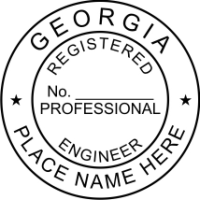 Georgia Professional Engineer 1 2 Rubber Stamp